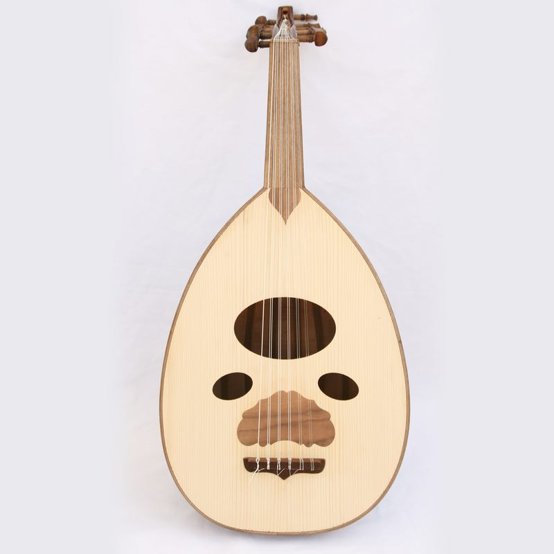 Oud from Syria with beautiful Arabic sound and quality. Made by Ali Khalife and branded by Zeyrab.